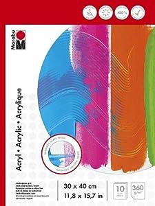 Marabu 161200013 Arte de Papel 10hojas - Papel Decorativo (Arte de Papel, 10 Hojas, 360 g/m², 300 mm, 400 mm)