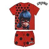 Miraculous, Le Storie di Ladybug e Chat Noir 2200002661 Pigiama Due Pezzi, Cotone, Bambina, Rosso (8 anni)