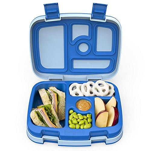 Bentgo Kids – Kinder Lunchbox / Bento Box / Brotdose mit 5 Unterteilungen, auslaufsicher (Blau) (Verriegelung Dichtung)