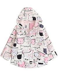 Navidad Abrigo para bebé niña niño con capucha , Yannerr Chica invierno Dibujos Impresión del gato encapuchados chaqueta sudadera capa outwear gruesa caliente Cardigan ropa