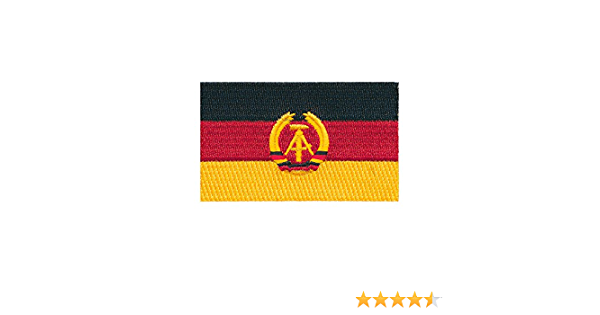 80 X 50 Mm Ddr Flagge Ost Berlin Germany Flag Patch Aufnäher Aufbügler 0676 X Küche Haushalt