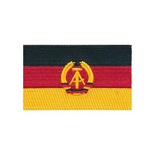 80 x 50 mm DDR Flagge Ost-Berlin Germany Flag Patch Aufnäher Aufbügler 0676 X