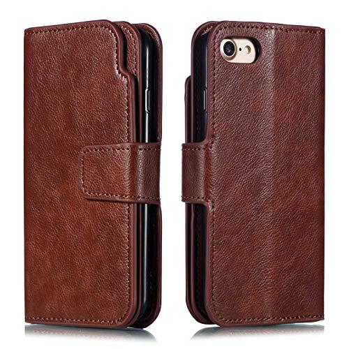 DENDICO iPhone se/5/5S Custodia, Custodia a Portafoglio in Pelle con 9Porta Carte per Apple iPhone se/5/5S, Multifunzione Magnetico Supporto Protettivo