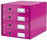Schubladenbox Wow metallicpink LEITZ 6049-00-23 4Laden Click&