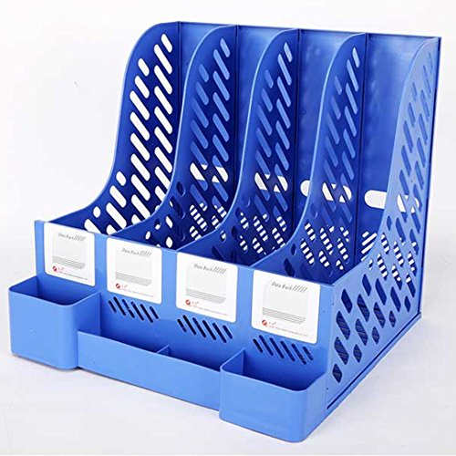 LAHAUTE Büro box Aufbewahrungskiste Space box Regal aus Kunststoff A4-Format,Blau,ca.32*31*31cm