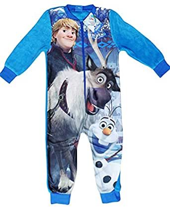 Onesies - Childrens Boys and Girls Long Sleeve Character Pyjamas Pjs Onesie Frozen Kristoff Olaf Sven age 2-3