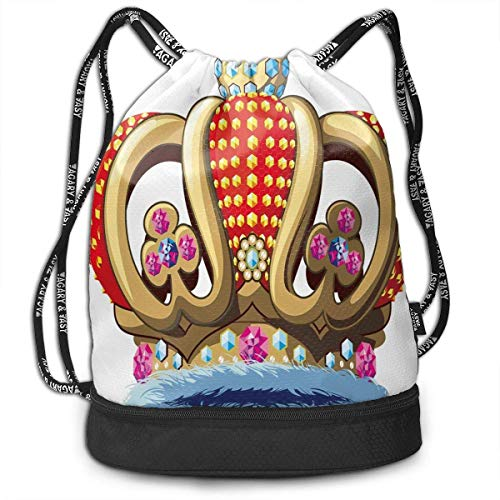 y Nobility Crown Partying Drawstring Bag Backpack Bundle Backpack ()
