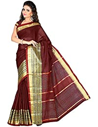 Harsh Sarees Women's Cotton Saree (GUD-1208_Maroon Colour) (GUD-1208)