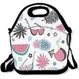 MAGGIE SALAS Watermelon Pineapple Palm Tree Customized Bag Lunch Bags Bags Travelling Bag Picnic Bag Storage Bag Backpack For Children Diagonal Bag Handbag