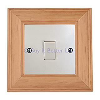 Light Switch Surround Frame Finger Plate Cover Honey Pine Transform The Look of Your Switch