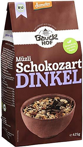 Bauckhof Bio Bauck Demeter Dinkel Müzli Schokozart (6 x 425 gr) - Demeter-schokolade