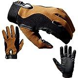 Reithandschuhe ATTONO® Reiten Turnier Dressur Handschuhe (Gr. 9 , schwarz braun)