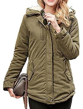 Mujer Cálido Espesar Abrigo Largo Parka Casual Chaquetas Jacket Con Capucha