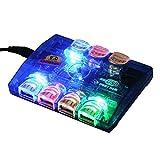 2-TECH Aktiver USB 2.0 Discolight-Hub 7 Port+ Netzteil