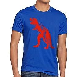 style3 Sheldon Dinosaurio Camiseta para hombre T-Shirt, Talla:2XL;Color:Azul