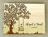 Personalisierte Hochzeit Baum Gästebuch Holz Gravierte Custom Braut Und Bräutigam Name Einklebebuch Geschenk
