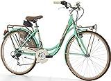 26 Zoll Cinzia Decoville Damen City Fahrrad 6-Gang, Farbe:Mint grün