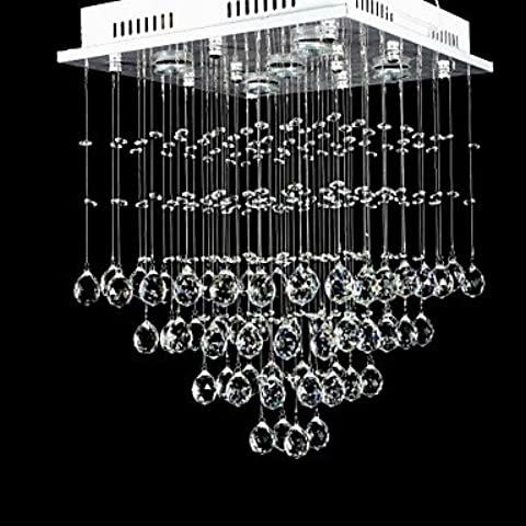 YM@YG Retro modo semplice ed elegante lampadario Camera da letto soggiorno studio Cafe Restaurant Bar lampadario Cristallo di lusso in rilievo Luce di soffitto con sorgente calda luce gialla , 220-240V