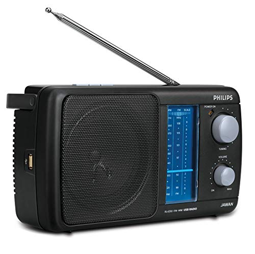 Philips 2 bands portable FM with USB( black )