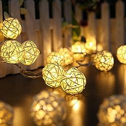 40 Leds de luz cadena, en interiores, decorar para la Navidad