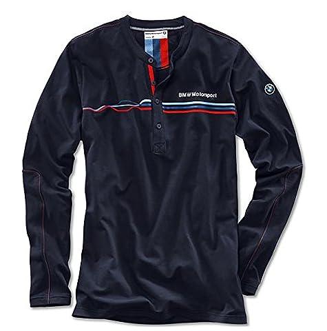 BMW Motorsport Homme Bleu Casual Leisure haut T-shirt à manches longues, taille: M