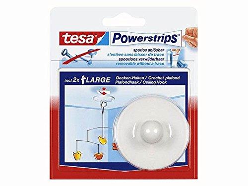 Preisvergleich Produktbild tesa 58029 - Powerstrips tesa Zimmerdeckenhaken weiss 3er Spapack