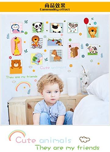 Niedlichen Tier Kinderzimmer Kühlschrank Kabinett Kindergarten Klassenzimmer Hintergrund Dress Up Wandaufkleber Wandbild