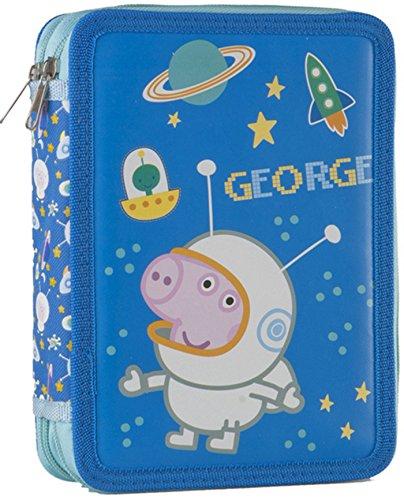 Peppa Pig–Estuche escolar escolar completa Peppa Pig George sobre la luna