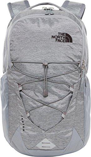 The north face jester pack, mid grey dark heather/tnf black, taglia unica