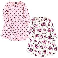 فساتين هدسون المصنوعة من القطن للرضع والأطفال من الفتيات  Rose Long-sleeve 2-pack 18-24 Months