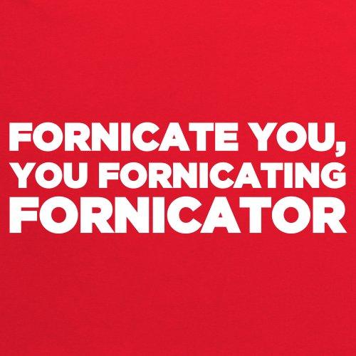 Fornicate You T-Shirt, Herren Rot