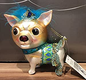 Gisela Graham Christmas Vintage Style Glass Chihuahua Decoration