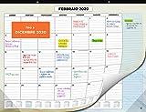 Calendario da Muro 2020 - Calendario da Scrivania Mensile, Novembre 2019 fino a Dicembre 2020 - Visualizzazione a un Mese - 33 x 43 cm