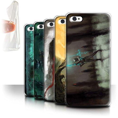 Offiziell Chris Cold Hülle / Gel TPU Case für Apple iPhone 5C / Pack 5pcs Muster / Unterwelt Kollektion Pack 5pcs