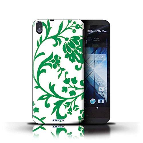 Kobalt® Imprimé Etui / Coque pour HTC Desire 816 / Fleurs Verte conception / Série Motif floral Fleurs Verte