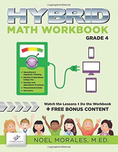 Hybrid Math Workbook Grade 4