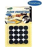 Primeway Furniture EVA-veins Floor Protector, 20 mm, Black -Set of 32 Pieces