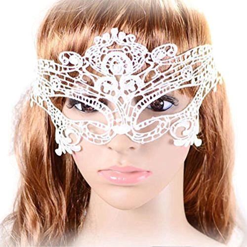 hle Maskerade Karneval Feiertags Party Ball Kostüm Sexy Strick Spitze Gesichtsmaske (Halloween-höhle Mädchen)