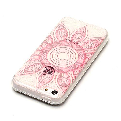 Apple iPhone 5C Hülle, Voguecase Schutzhülle / Case / Cover / Hülle / TPU Gel Skin (Donuts 08) + Gratis Universal Eingabestift Rote Sonnenblumen 02