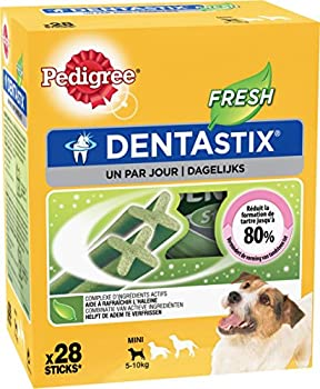 Pedigree Dentastix Fresh - Friandises pour petit chien - sticks hygiène bucco-dentaire - Lot de 4 (Total 4 x 28 Sticks)