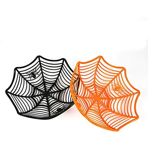 Ouken 1 PCs Candy Basket Plastik Spider Web Halloween Candy Bowls (Zufalls Farbe)