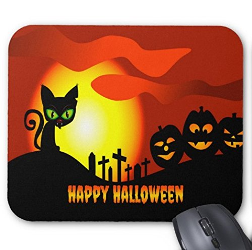 Gaming Mouse Pad Cute Happy Halloween Design für Desktop und Laptop 1 Pack 25x20cm / 9.8x7.9in