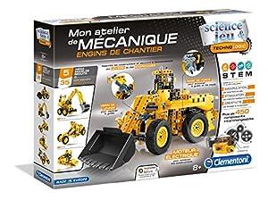 Clementoni 52262 - Taller mecánico de vehículos de construcción (Idioma español no garantizado)