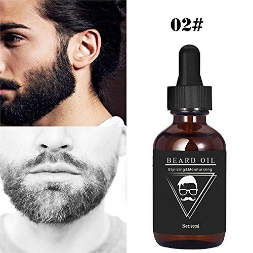 Igemy Huile à barbe, essence de 30 ml, pour une croissance rapide et un épaississement de la barbe, moustache, sourcil