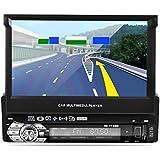 """Lettore MP5 per auto, LESHP 7 """"HD Touch Screen Navigatore GPS Bluetooth Radio 1 din per auto FM / AM USB Stereo Video Controllo tensione AUX + Telecamera posteriore 170 ° Visione notturna + Scheda d"""