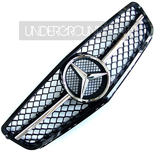 mercedes-c-class-w204-black-c63-style-sports-amg-front-radiator-grille