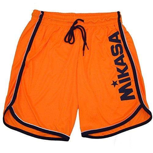 Preisvergleich Produktbild Mikasa Beachvolleyball-Shorts Crystal – MT5001,  Herren,  V3 - Arancio Fluo / Blu,  2XL