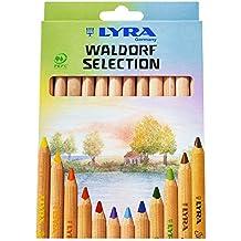 LYRA Super Ferby Waldorf Selection Kartonetui mit 12 Farbstiften, Sortiert