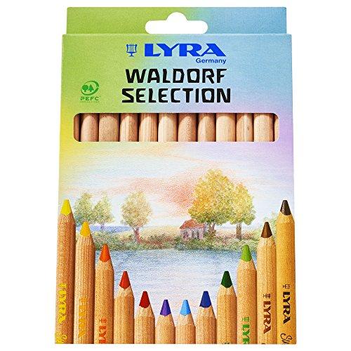 LYRA Super Ferby Waldorf Selection Kartonetui mit 12 Farbstiften, Sortiert (Farbstifte, Deutsch)