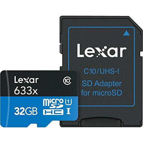 Lexar lsdmi32gbbeu633a - scheda di memoria micro sdhc 633x uhs-i con adattatore sd, 32 gb